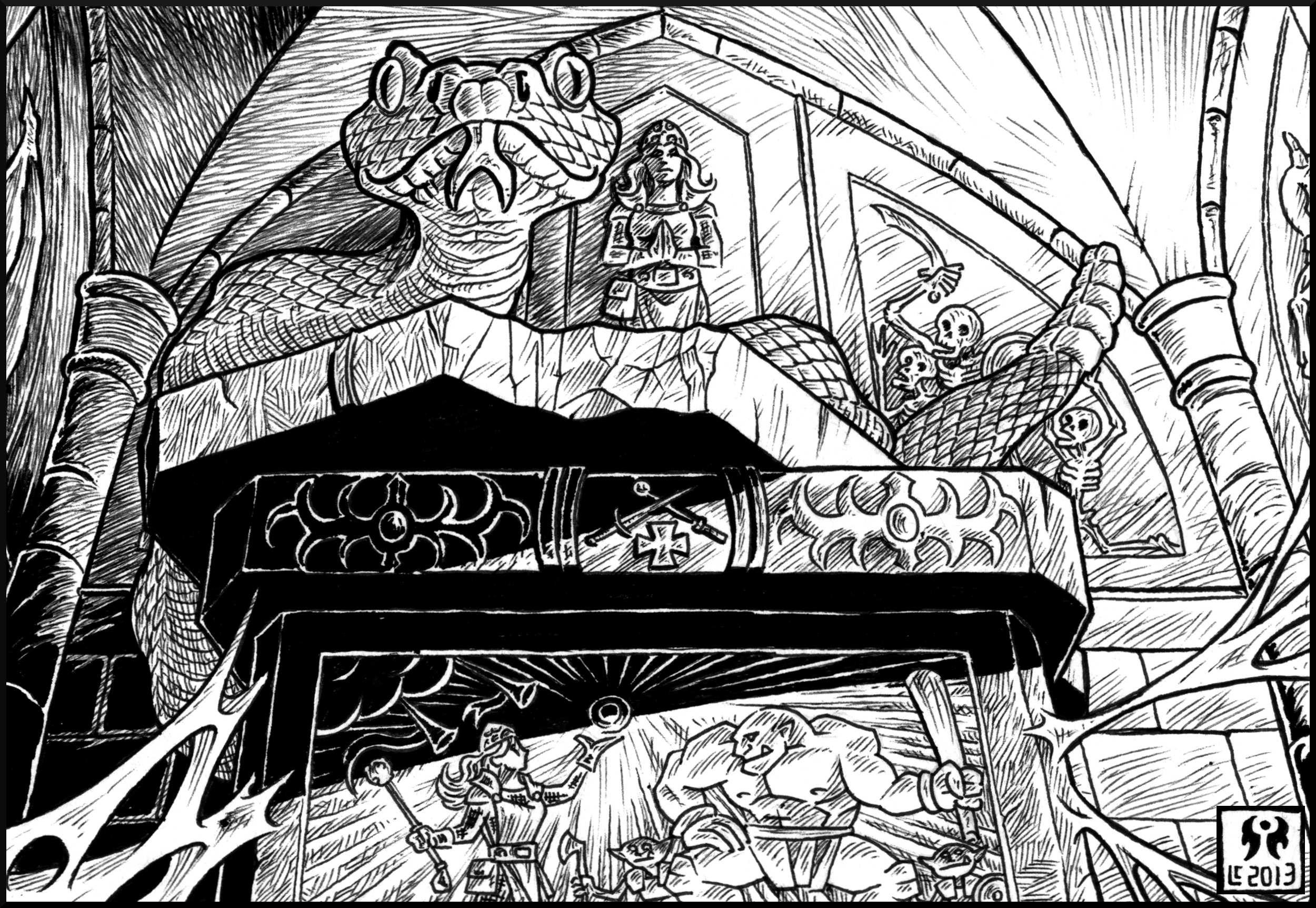 Disponibile Il Santuario di Aleena, nuova avventura per Labyrinth Lord.