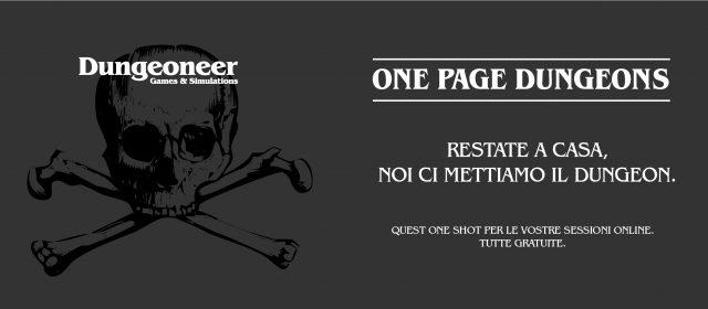 Arrivano i One Page Dungeon gratuiti. #rimaneteacasa